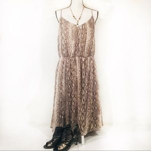 NWT Banana Republic snake print strappy Dress XL